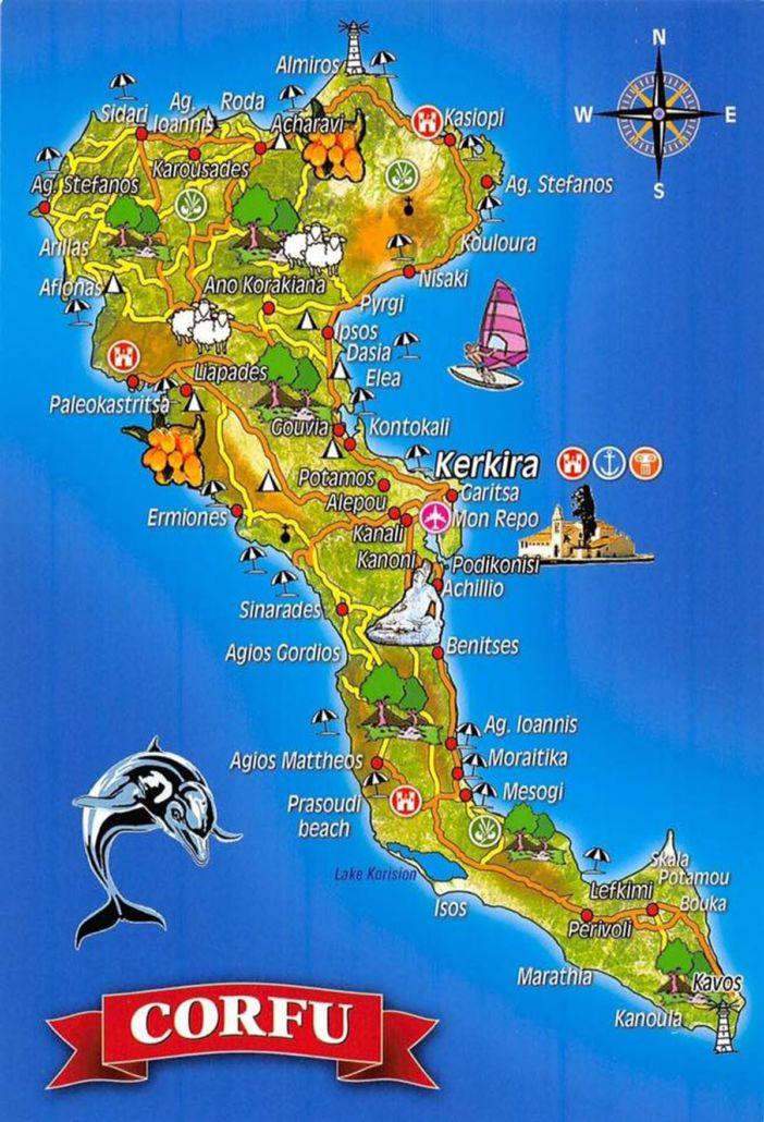 Korfu Landkarte