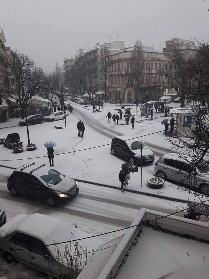 Schnee in Korfu