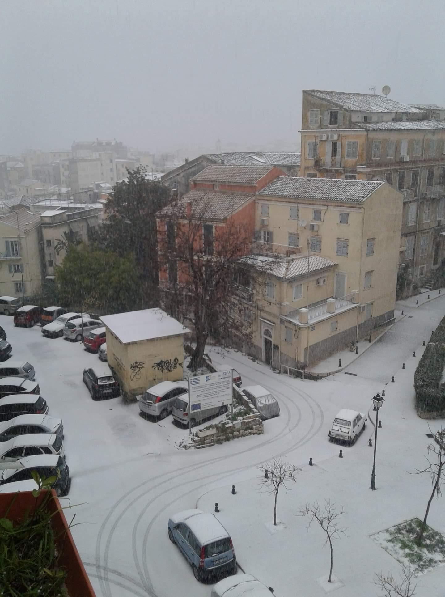 Schnee auf Korfu
